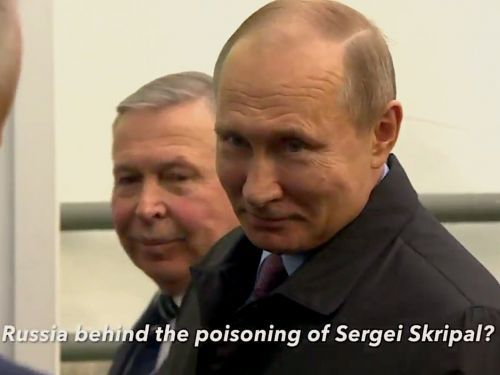 Vladimir Putin was confronted by a British journalist over the poisoning of a former spy - and his reply was brutal