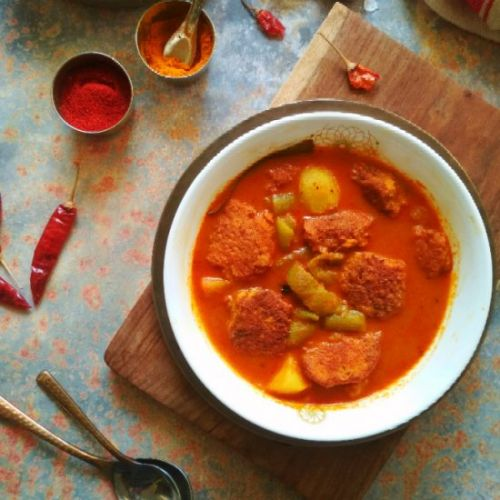 Fish Roe Fritter Curry