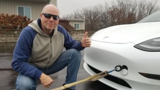 Tesla Model 3 Owner Recharges Car by Having It Towed