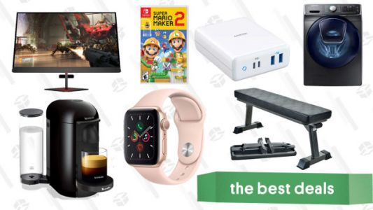 Thursday's Best Deals: HP 72-Hour Flash Sale, Apple Watch Series 5, Breville Espresso Maker, Anker 100W Charger, Workout Bench, and More