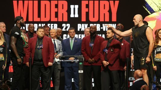 Deontay Wilder vs. Tyson Fury 2: Fury weighs in 42 pounds heavier than Wilder for rematch