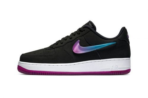 "Nike's Air Force 1 ""Active Fuchsia/Blue Lagoon"" Gets an Oversized Jewel Swoosh"