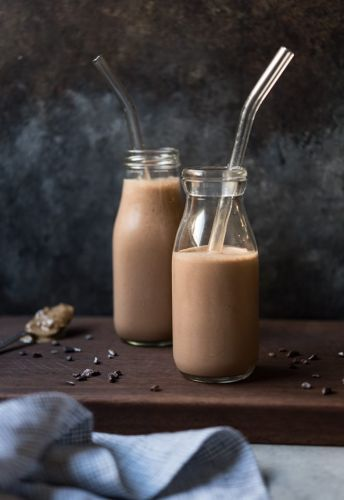 Rich and Creamy Peanut Butter-Chocolate Smoothie