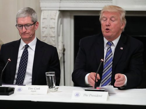 President Trump lashes out at Apple for refusing to help the FBI unlock a shooter's iPhones: 'They will have to step up to the plate and help our great Country, NOW!'