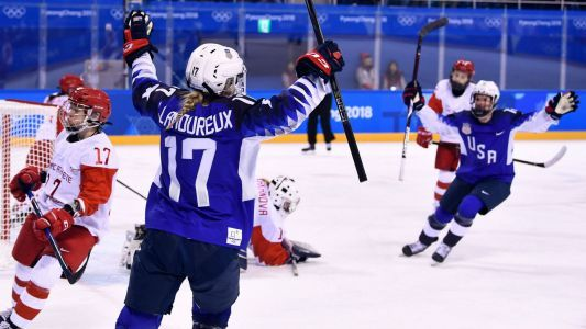 Jocelyne Lamoureux-Davidson makes Olympic history as U.S. women dominate Russians