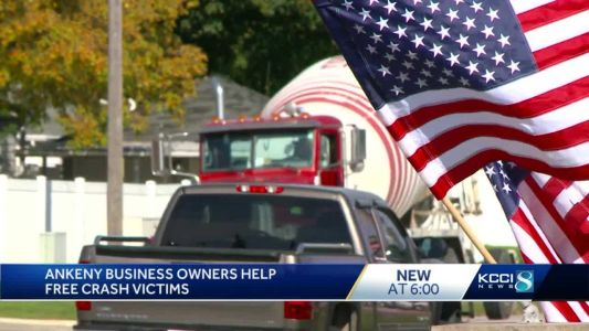 Ankeny business owners help free victims of crash