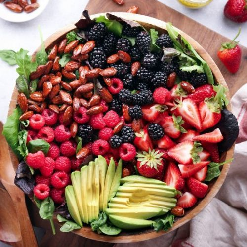 Mixed Berry and Avocado Salad