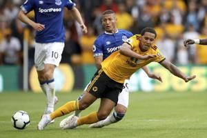 Neves inspires Wolves to 2-2 draw with Everton on EPL return