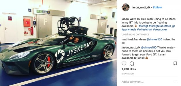Partially Paralyzed Racer's Ford GT Can Carry His Wheelchair On Its Roof