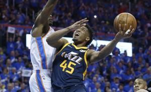 George, Mitchell questionable for Game 2 of Thunder-Jazz