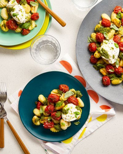 SPONSORED POST: Recipe: Grilled Cherry Tomatoes with Gnocchi and Burrata