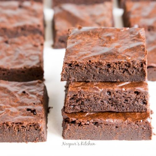 Eggless Double Chocolate Brownies