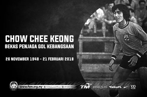 Former goalkeeping great Chow Chee Keong passes away