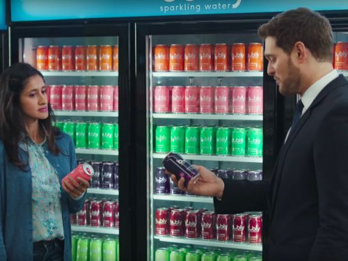Michael Bublé Starts Rivalry With Bubly Sparkling Water in New Super Bowl Ad