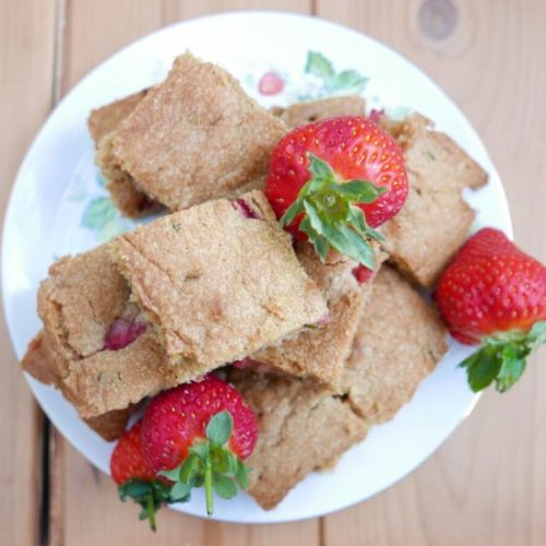 Mint and Strawberry Blondies