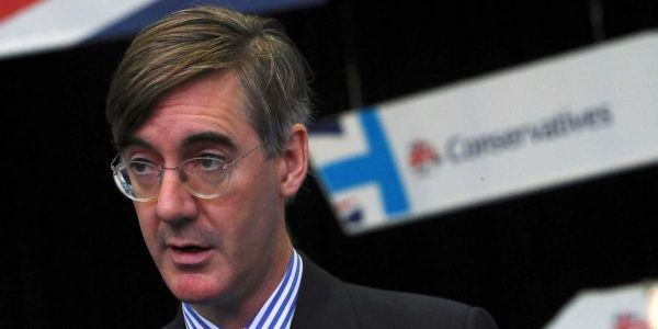 Watch Jacob Rees-Mogg get ambushed by protesters at Conservative conference