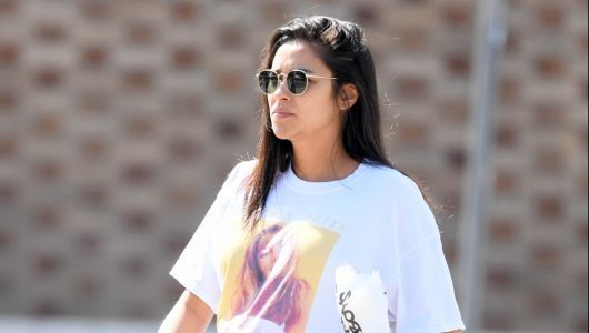 Style Mama! Shay Mitchell Flaunts Her Baby Bump in the Cutest Vintage Britney Spears Tee
