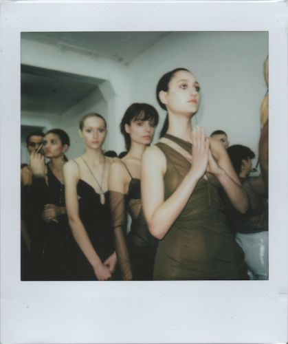 Stylist Francesca Burns Shares Her Precious Polaroids From Designer Nensi Dojaka's Debut Show at Fashion East