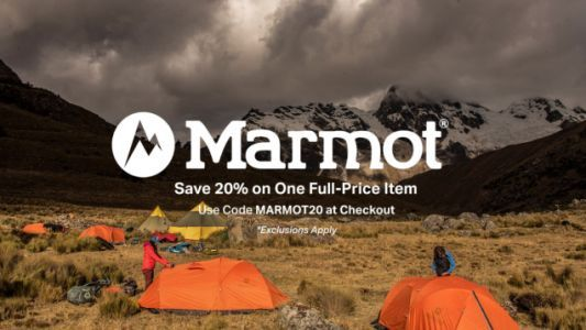 Save 20% on One Full-Priced Marmot Item at Backcountry