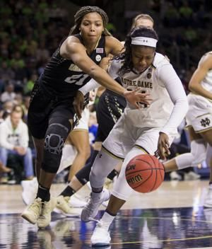 Mabrey scores 18, No. 1 Notre Dame routs Wake Forest 78-48