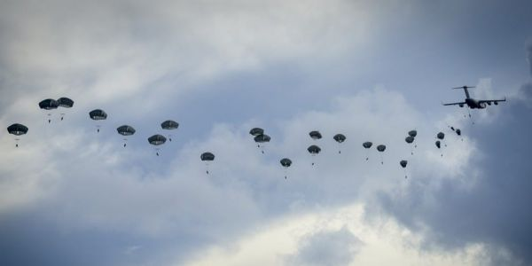 More than 400 US Army paratroopers flew almost 5,000 miles to practice a long-range Pacific island invasion