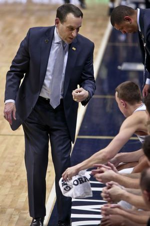 Duke: Coach K to miss Wake Forest game with virus