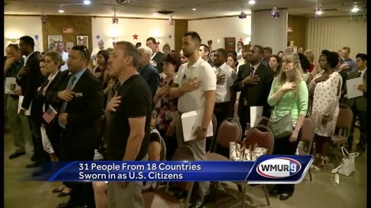 31 new US citizens sworn in on Flag Day in NH