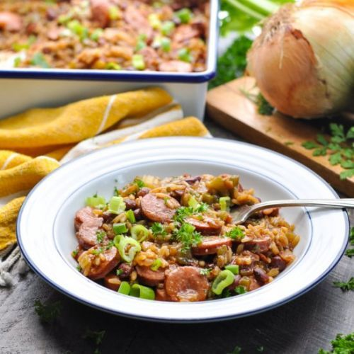 Dump-and-Bake Red Beans & Rice