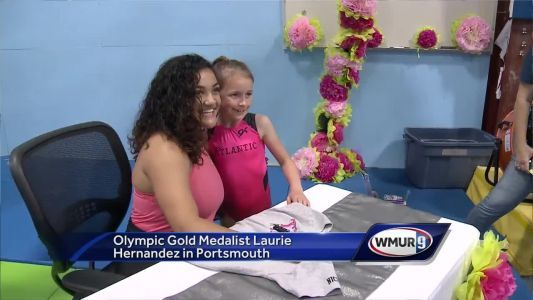 Olympic gold medalist meets aspiring gymnasts in Portsmouth