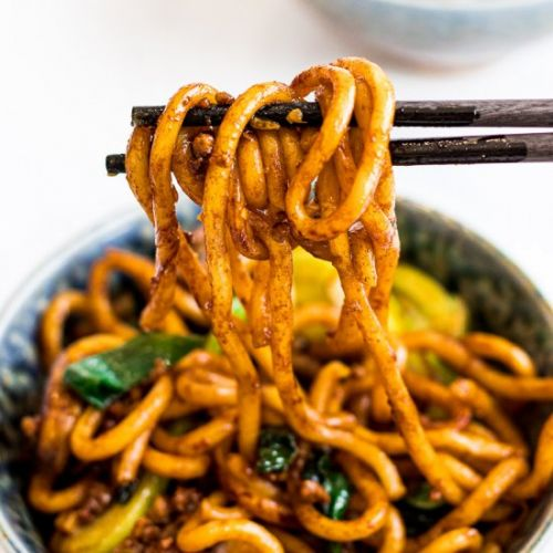Yaki Udon, Stir Fried Udon Noodles