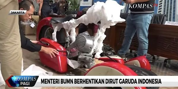 Indonesia's flagship airline fired its CEO after he allegedly smuggled a Harley-Davidson motorbike into the country on one of its planes