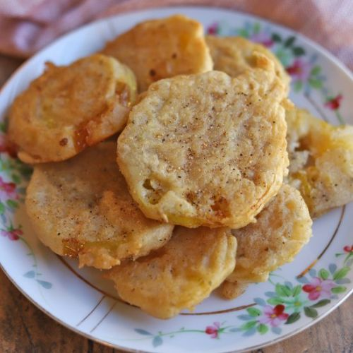 Beer battered fried green tomatoes