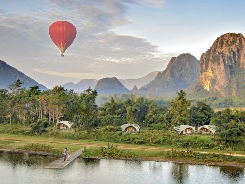 These $50,000 'typhoon-resistant' luxury tented lodges designed in Vietnam can be shipped anywhere in the world and customized to include a pool - take a look