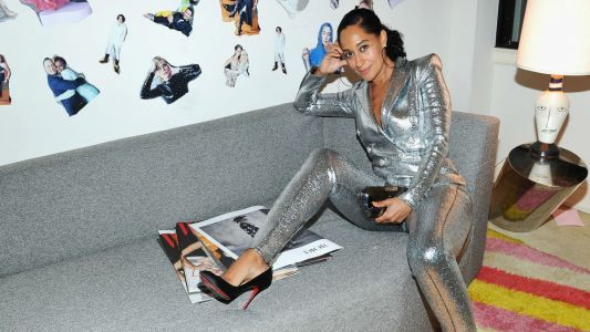 Tracee Ellis Ross Was the Most Fun Person at the Party in a Silver Balmain Jumpsuit
