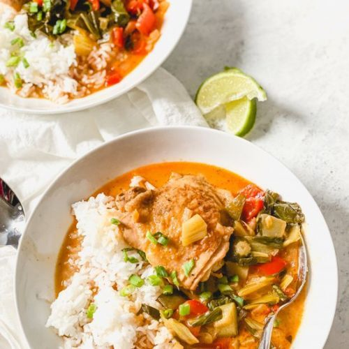 One-Pot Coconut Curry Braised Chick
