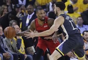 Blazers head home for Game 3, down 2-0 to Golden State
