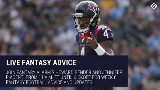 Live Week 6 Fantasy Football Advice: Injury updates, start 'em sit 'em, NFL DFS tips, more