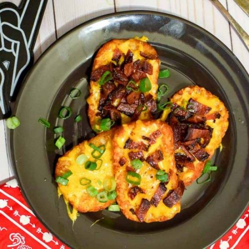 Easy Loaded Hash Browns Appetizer
