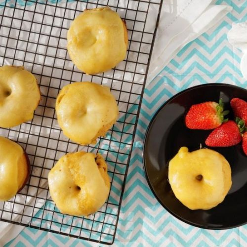 Baked Honey Donuts with Gouda