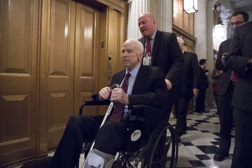 John McCain receives treatment for 'normal side effects' of ongoing cancer therapy