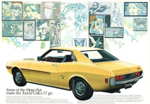 """The set of things Toyota claims """"makes the Celica ST go"""" is pretty fascinating"""