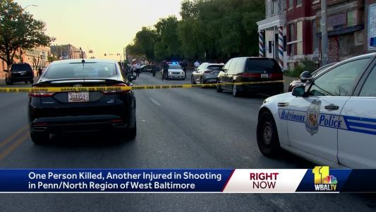One man dead, one woman injured in west Baltimore shooting