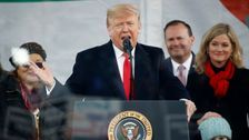 Trump Turns The March For Life Into A Campaign Rally