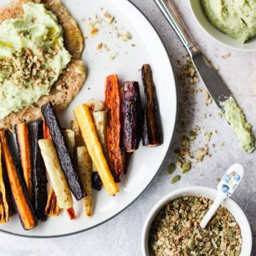 Avocado and Cauliflower Hummus