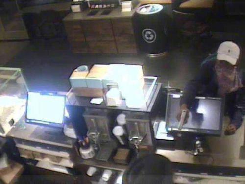 Man fired shot into air at Starbucks, demanded money, police say