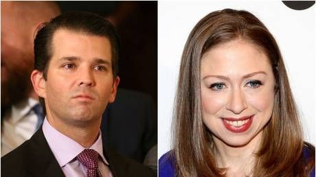 Strange bedfellows: Trump's son defends Clinton's daughter amid accusations of stoking Islamophobia