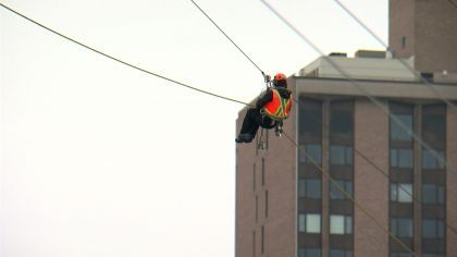 'Bold North Zip Line' Ready For Super Bowl LII Fans