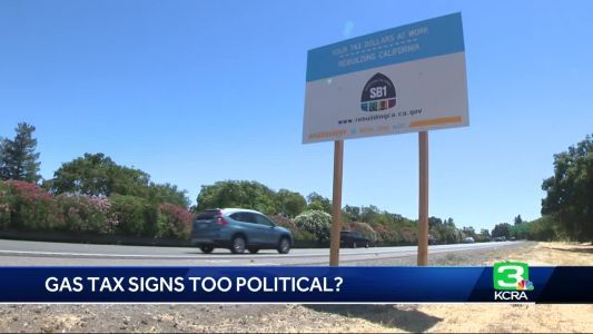 Are gas tax signs on California roads too political?