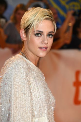 Kristen Stewart Debuted a Platinum-Blonde Pixie Cut with Side-Swept Bangs