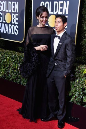 Angelina Jolie Brought Her Son Pax as Her Date to the Golden Globes